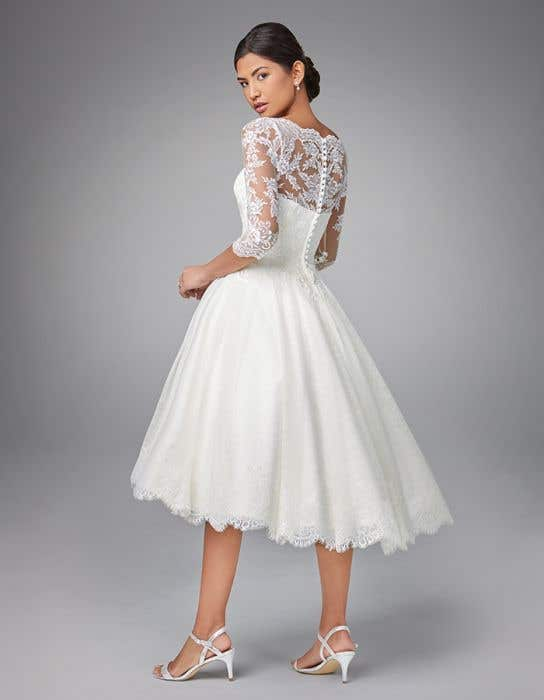 Abilene A Vintage Tea Length Wedding Dress Wed2b,Simple Chic Modern Wedding Dresses
