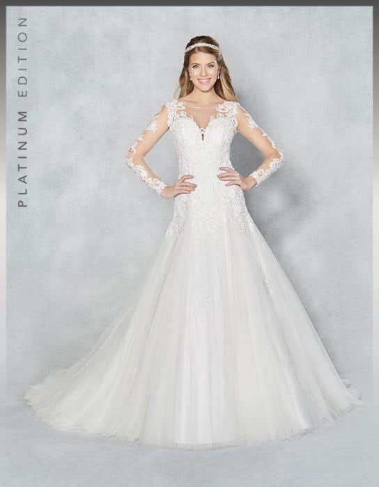 Fit And Flare Wedding Dress.Alessia