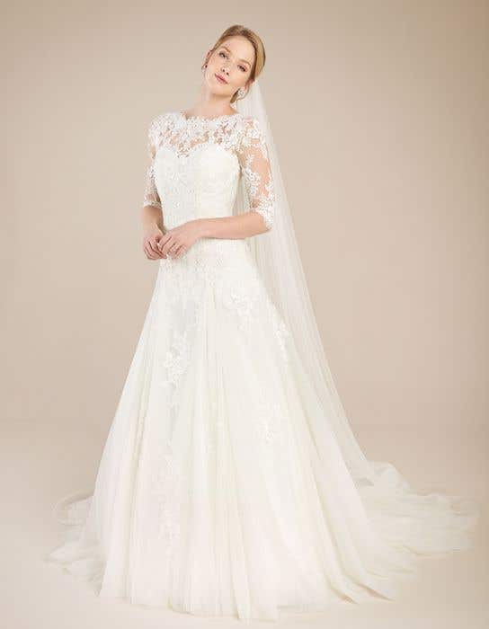Laurenza A Delicate Fit Flare Wedding Dress Wed2b
