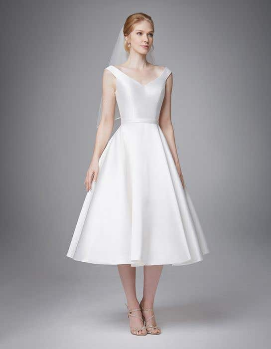 classic short aline wedding dress