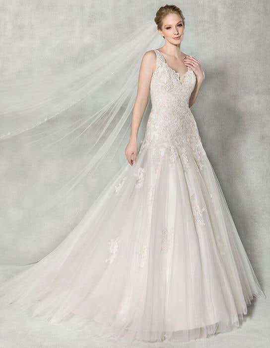 Fit And Flare Wedding Dress.Daria