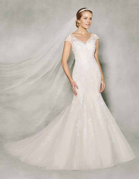 c89faa54fc9 Anna Sorrano - Etta fishtail wedding dress - WED2B