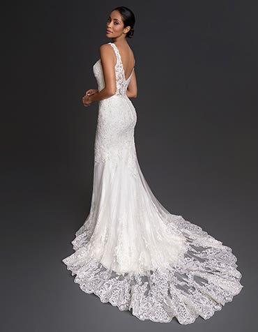 Denver - une robe de mariée en dentelle ornée