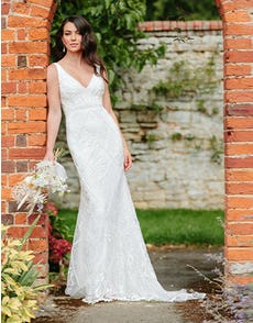 Dion - a luxury beaded sheath gown