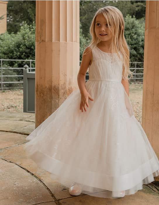 Dottie - a glittering floral flower girl dress | WED2B