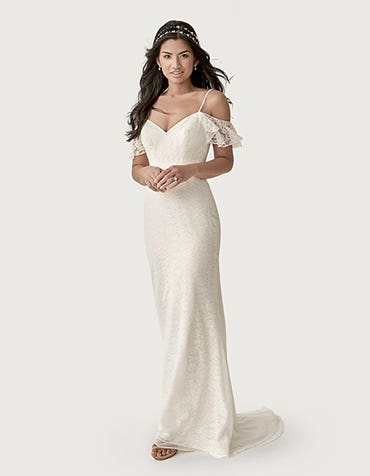 dylan sheath wedding dress front heidi hudson