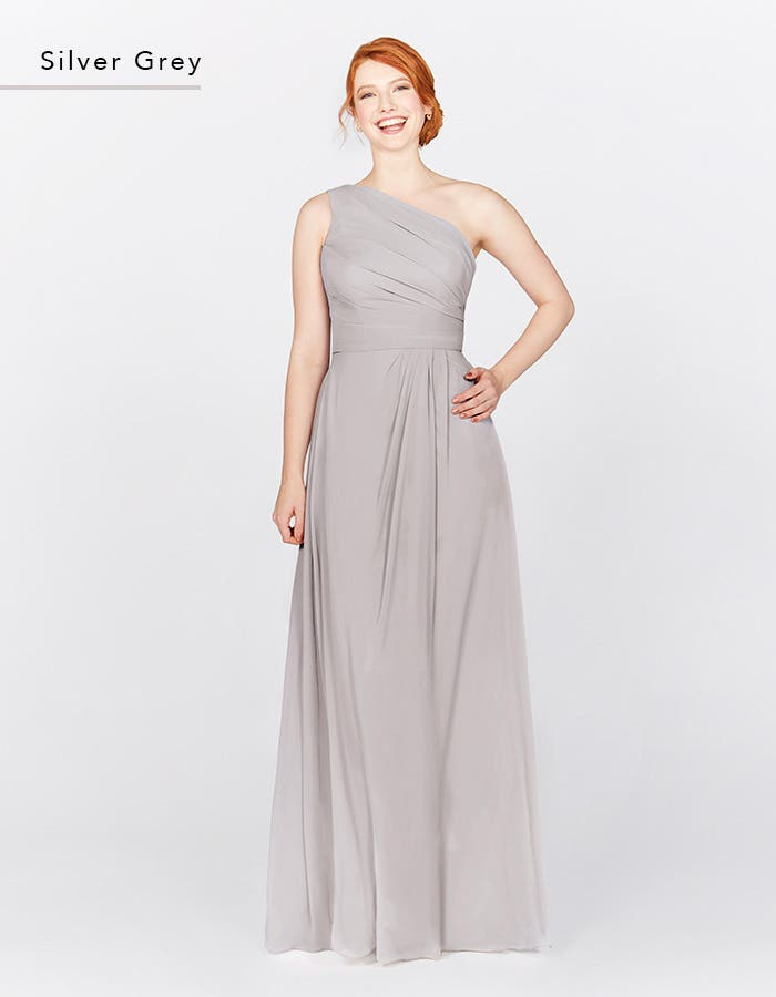 EDEN - this elegant one-shoulder draped dress is cool & contemporary