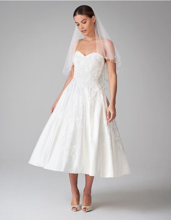 edna short wedding dress front anna sorrano