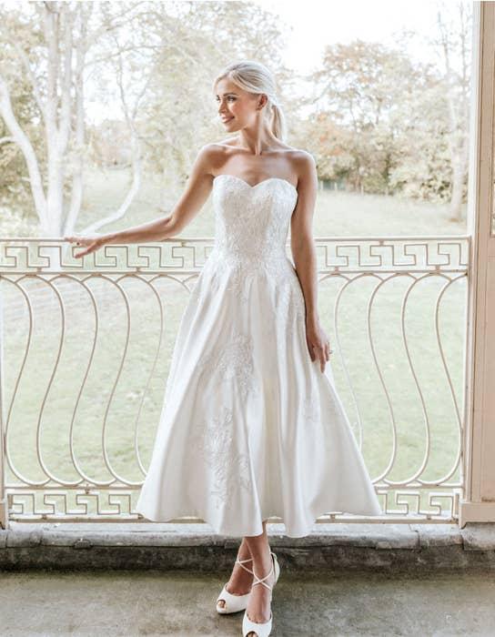 edna short wedding dress front edit anna sorrano