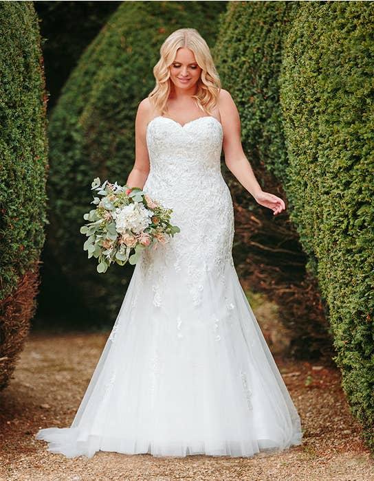 elba fishtail wedding dress anna sorrano