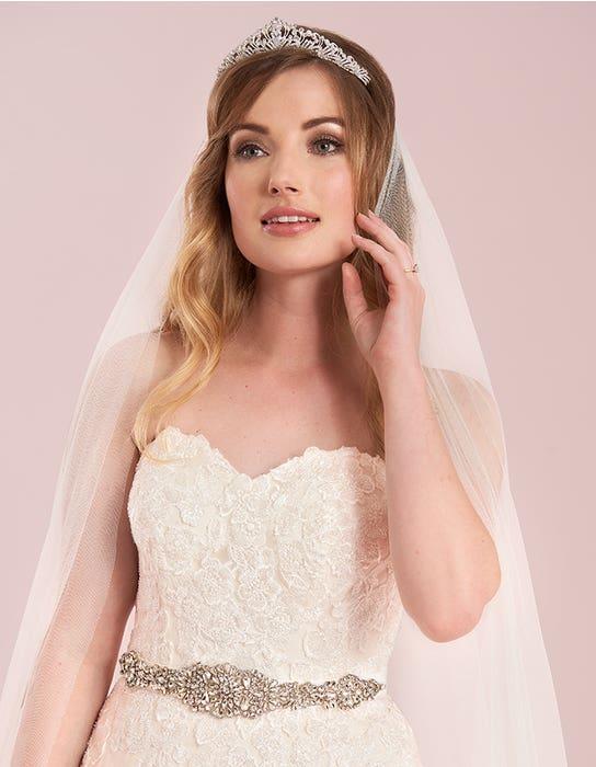 elizavetta blush aline wedding dress front crop viva bride