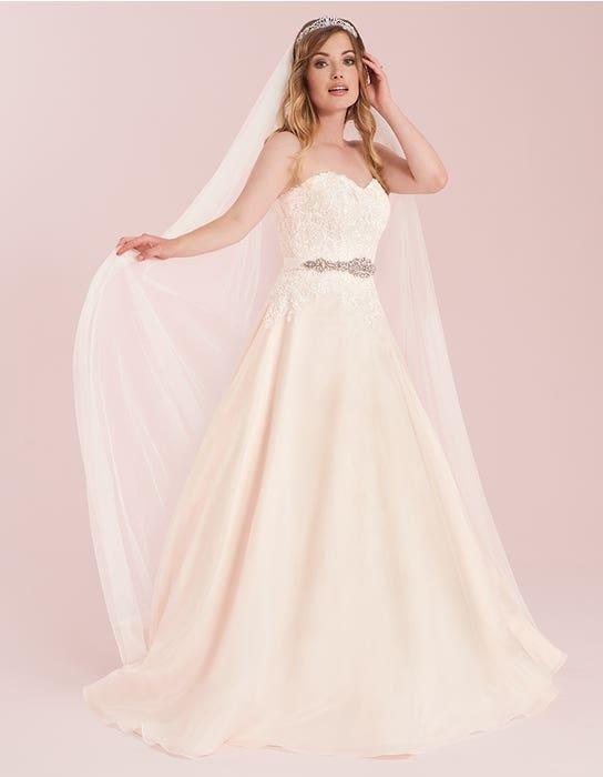 elizavetta blush aline wedding dress front viva bride