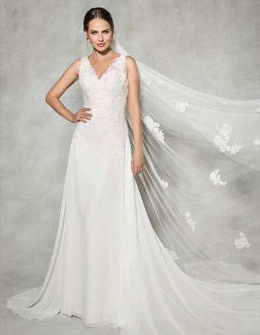 ELODIE - een romantische jurk van chiffon