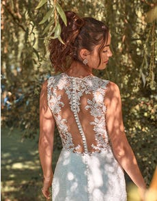 Ferris - a mermaid gown with striking illusion back