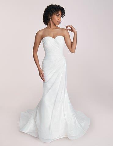 Goldie - a glittering strapless fishtail wedding dress