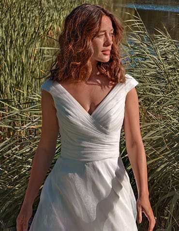 Greta - a classic organza wedding dress
