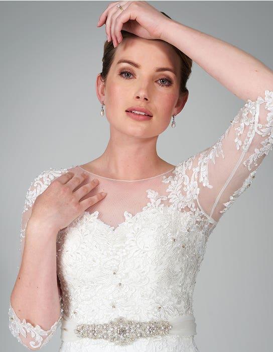 hattie fishtail wedding dress front crop anna sorrano