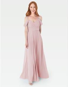 HAVEN - deze jurk in Griekse stijl heeft prachtige gedrapeerde schouderdetails