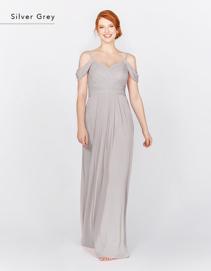 HAVEN - this Grecian style dress features stunning draped shoulder details