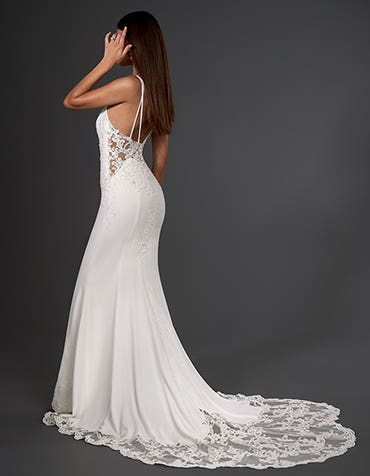 hemsworth sheath wedding dress back signature th