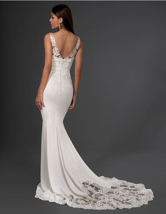 henri sheath wedding dress back signature