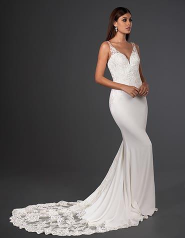 henri sheath wedding dress front signature th