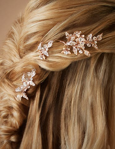 HONEY - a trio of hair pins with sparkling flowers
