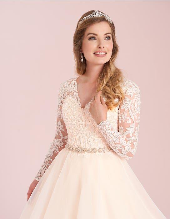 jaden blush aline wedding dress front crop viva bride