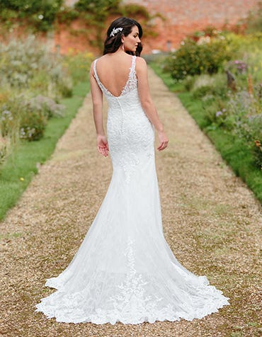 Jessie - a beaded lace sheath gown