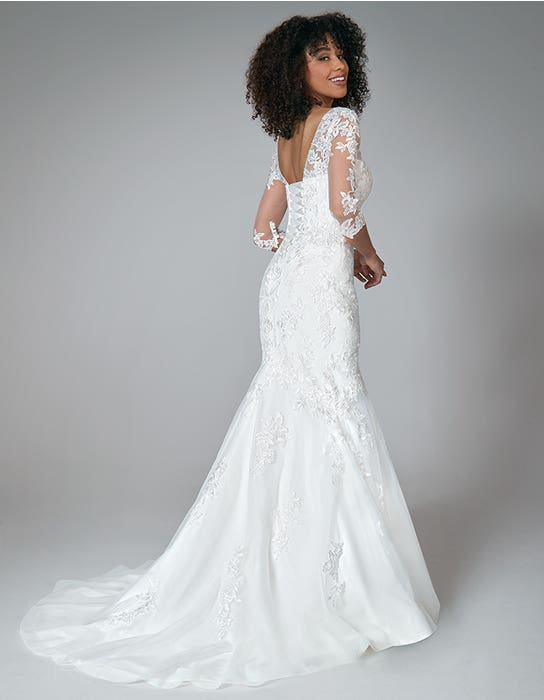 karla fishtail wedding dress back anna sorrano
