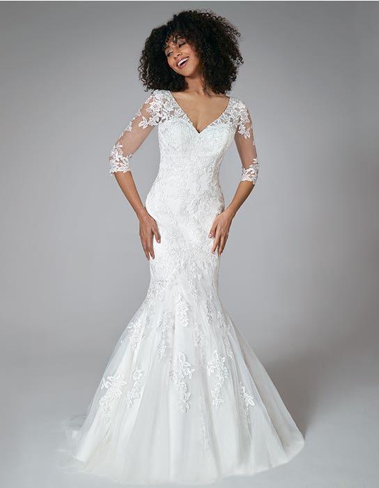 karla fishtail wedding dress front anna sorrano