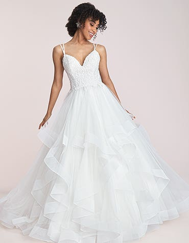 Katelyn - a flirty waterfall ballgown