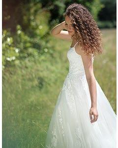 Kaur - a boho gown with modern neckline