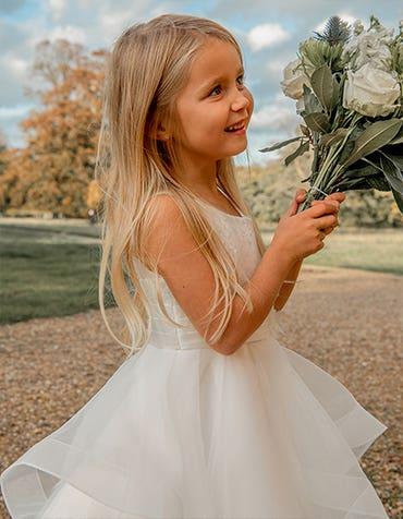 KHLOE - ein fließendes Kleid für Blumenmädchen