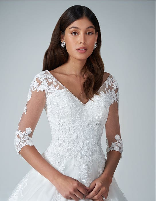 Kitty - a delicate floral lace a-line   WED2B