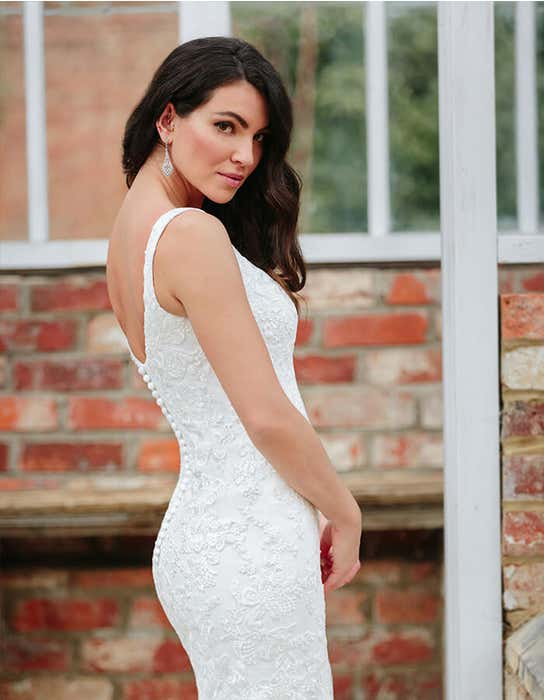 Lawson - a modern sparkling gown with button back | WED2B
