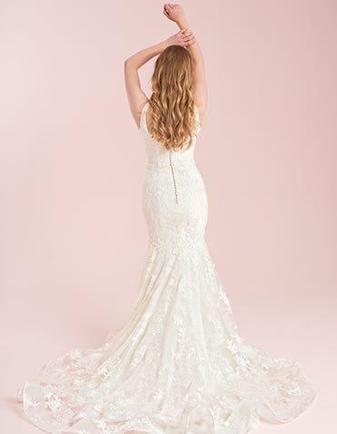lawson fishtail wedding dress back viva bride th