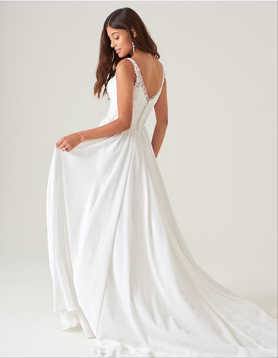 Lilah - a beaded A-line boho gown | WED2B