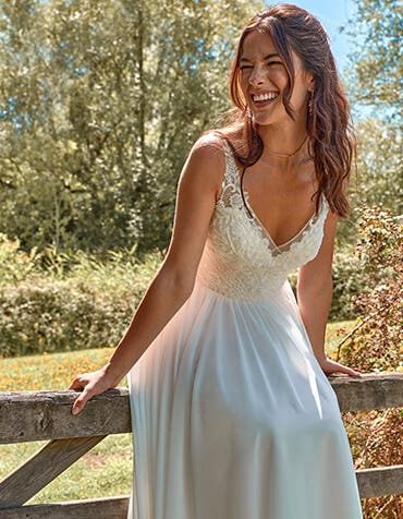 Lilah - a beaded A-line boho gown