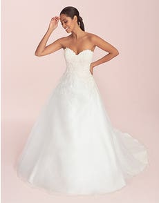 Lilian - an organza A-line with beaded lace