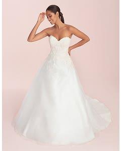 Lilian - a feminine organza wedding dress