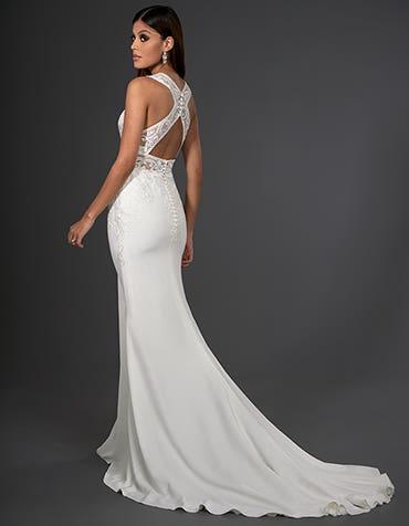 logan sheath wedding dress back signature th