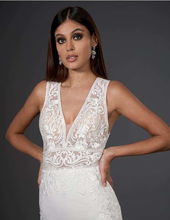 logan sheath wedding dress front crop signature
