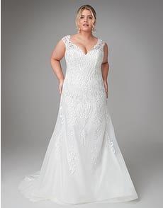 Lorena - een traditionele aansluitende bruidsjurk