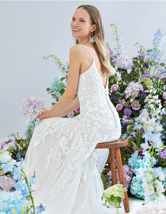 lyssa fit and flare wedding dress back viva bride edit