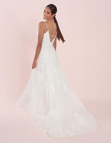 lyssa fit and flare wedding dress back viva bride th