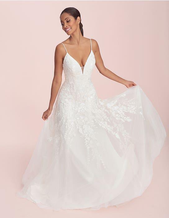 lyssa fit and flare wedding dress front viva bride