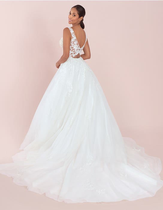 maison ballgown wedding dress back viva bride