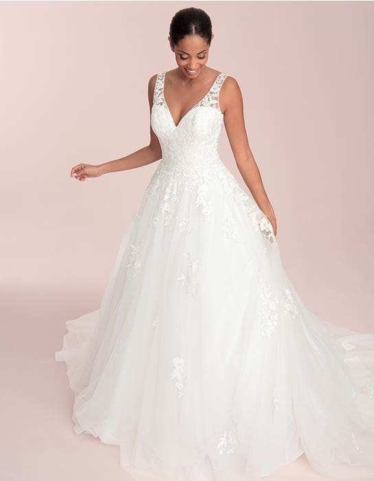 Maison - a modern ball gown with keyhole back   WED2B