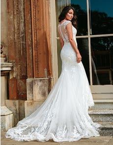 Marko - a modern botanical lace gown